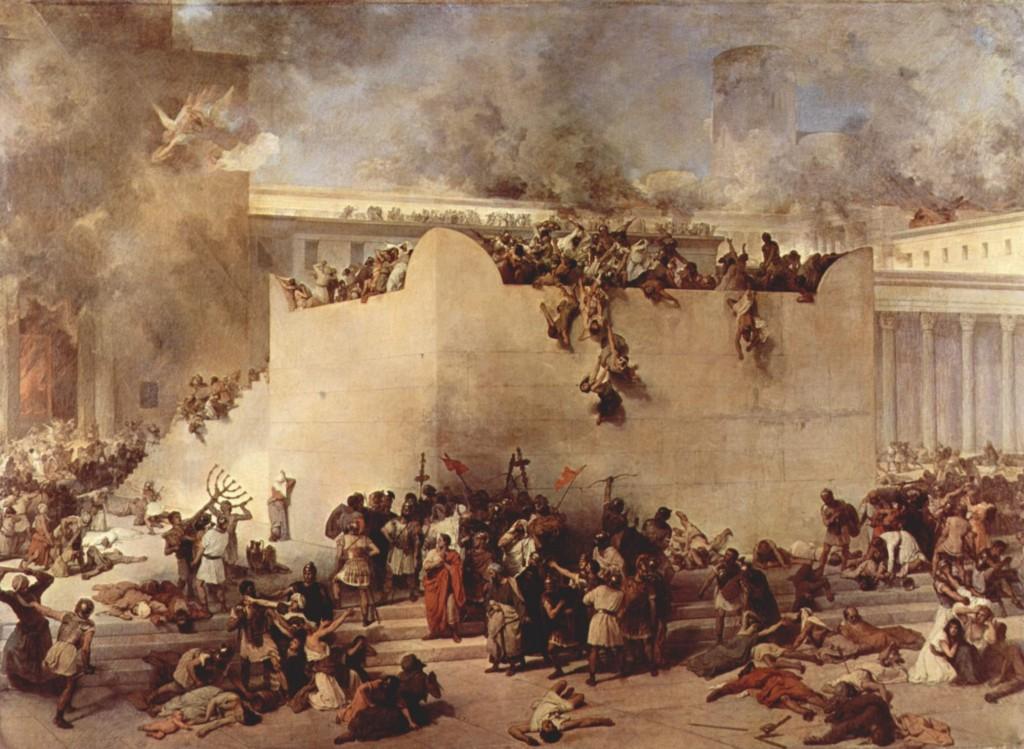 """Destruction of the Temple in Jerusalem"" by  Francesco Hayez, 1867"