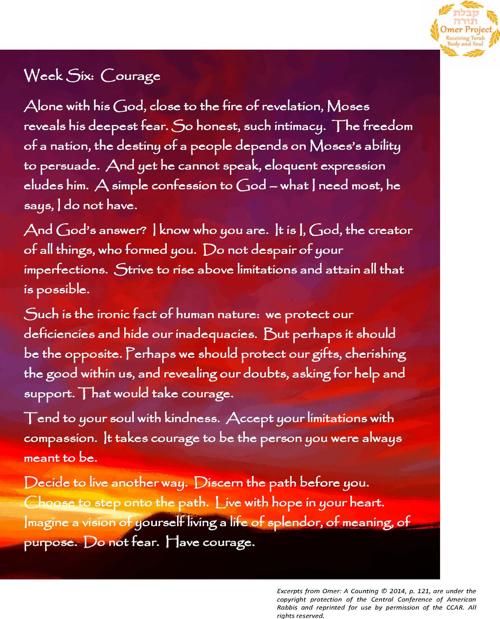 Week Six: Courage
