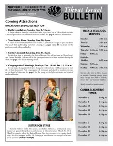 Bulletin Nov-Dec 2019 front image