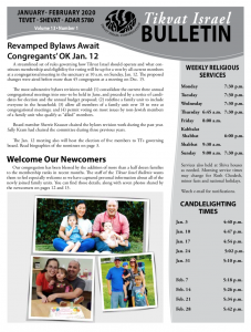 Bulletin January - February 2020 front image