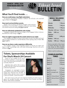 Bulletin March-April 2020 front image