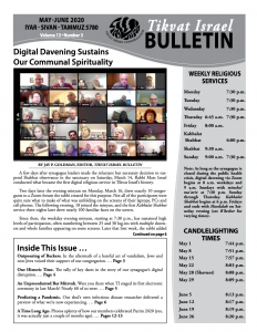 Bulletin May - June 2020 front image