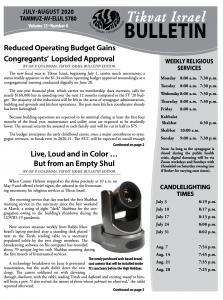 Bulletin Jul-Aug 2020 front image