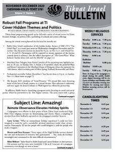Bulletin November - December front image