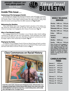 Bulletin January - February 2021 front image