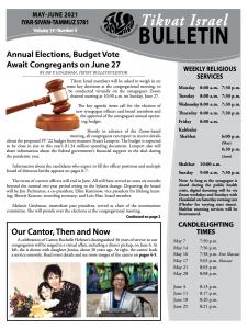 Bulletin May-June 2021 front image