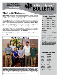 Bulletin July-August 2021 front image